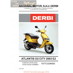 Derbi Atlantis Aire 2002 Parts List