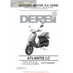 Derbi Atlantis Liquid Cooled 2002 Parts List