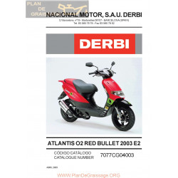 Derbi Atlantis Red Bullet 2003 Parts List