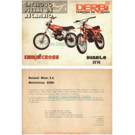 Derbi Cross 50 V4 Y Diablo 50 V4 Manual De Piezas