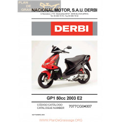Derbi Gp1 50 Parts List