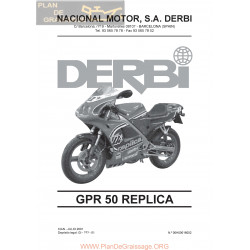 Derbi Gpr Replica 1999 2000 2001 Parts List