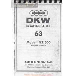 Dkw 500 Nz 1939 40 Despiece