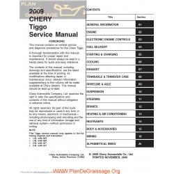 Chery Tiggo 2009 Service Manual