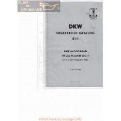 Dkw Rt 250 H Y Rt 250 1 Despiece