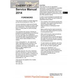Chery Tiggo5 T21 2014 Service Manual En