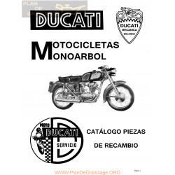 Ducati 125 Turismo Y Super 175 Turismo 200 Elite Catálogo Piezas Recambio