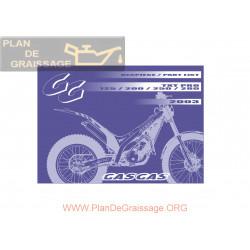 Gasgas Txt Pro 125 200 250 280 2003 Parts List