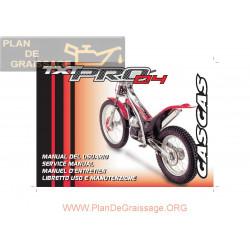 Gasgas Txt Pro 125 200 250 280 300 2004 Manual De Intretinere
