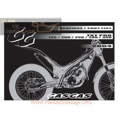Gasgas Txt Pro 125 200 250 280 300 2004 Parts List