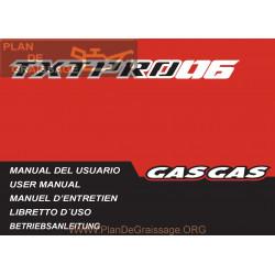 Gasgas Txt Pro 125 200 250 280 300 2006 Manual De Intretinere