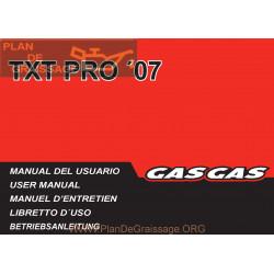 Gasgas Txt Pro 125 200 250 280 300 2007 Manual De Intretinere