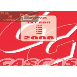 Gasgas Txt Pro 125 200 250 280 300 2008 Parts List