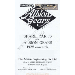 General Albion Gears C1 E1 Spare Part 1928