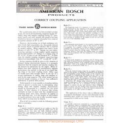 General Bosch American Magneto Acoplamiento Servicio Manual Ingles