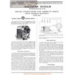General Bosch American Magneto Serie Du Servicio Manual Ingles