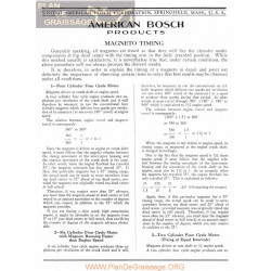 General Bosch American Magneto Timing Manual Ingles