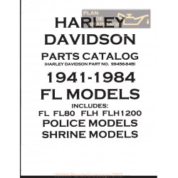 Harley Davidson Fl Fl80 Flh 1200 Catalogue De Pieces 1941 1984