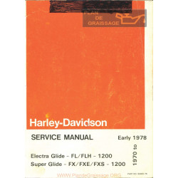 Harley Davidson Fl Flh Fx Fxe Fxs 1200 Electra Glide Manuel Technique 1970 A 1978