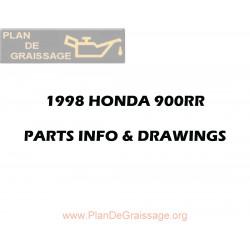 Honda 1996 1998 Cbr 900 Rr Parts Microfiche