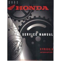 Honda Vfr 800 Vtec 2002 Manual De Reparatie