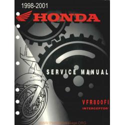 Honda Vfr800fi Interceptor 98 01 Service Manual