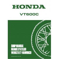 Honda Vt 600 C 1993 1994 Manual De Reparatie