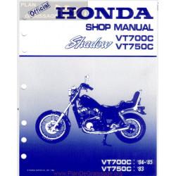 Honda Vt 700 750 Shadow Manual De Intretinere