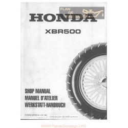 Honda Xbr 500 Shop Manual 1985