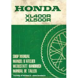 Honda Xl 400 R Xl 500 R 1982 Manual De Reparatie