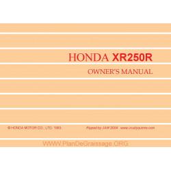 Honda Xr 250 R 1983 Manual De Intretinere