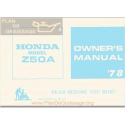 Honda Z50a 1978 Owners Manual