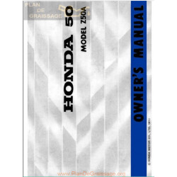 Honda Z50a K2 1970 Owners Manual