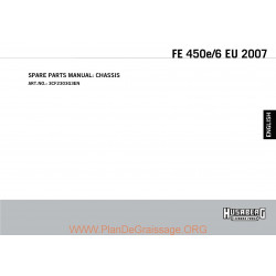 Husaberg Fe 450e 2007 Parts List