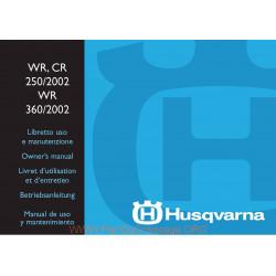 Husqvarna 2002 Wr Cr 250 Wr 360 Manual De Utilizare
