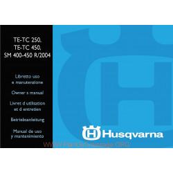 Husqvarna 2004 Te 250 400 Sm 400 450 Manual De Utilizare