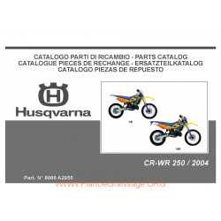 Husqvarna Cr Wr 250 2004 Parts List