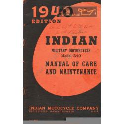 Indian 340 Manutenzione