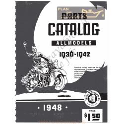 Indian Parts Catalog 1936 42