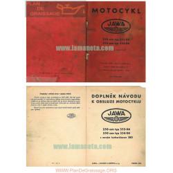 Jawa Mod 353 04 250cc Mod 354 04 1961 Manual Usuario Checo