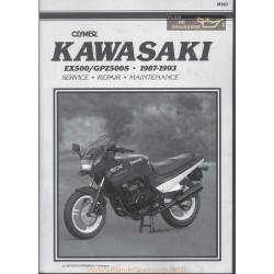 Kawasaki Ex 500 Gpz 500 S 1987 1993 Service Manual
