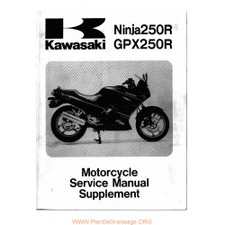 Kawasaki Gpx 250 R Ninja Ex 250 F2 F19 1988 2005 Manual De Reparatie Suplimentar