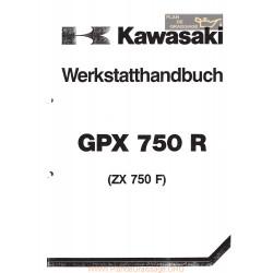 Kawasaki Gpx 750 R Zx 750 F1 Service Manual