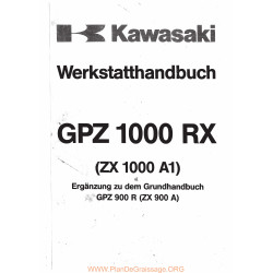 Kawasaki Gpz 1000 Rx Gpz 900 R Manual De Reparatie Suplimentar