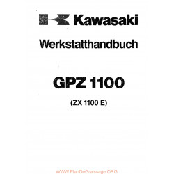 Kawasaki Gpz 1100 E Manual De Reparatie