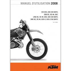 Ktm 125 200 250 300 Exc Six Days Exc 2008