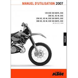 Ktm 125 200 250 300 Exc Xc Six Days 2007