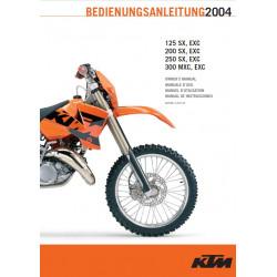 Ktm 125 200 250 300 Sx Mxc Exc 2004