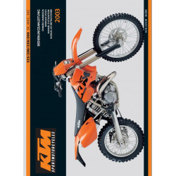 Ktm 125 200 250 300 Sx Mxc Exc Manual Owners 2003