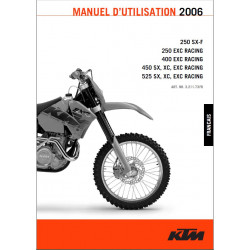 Ktm 250 100 525 Exc Sx Xc Racing Manuel Dutilisation 2006